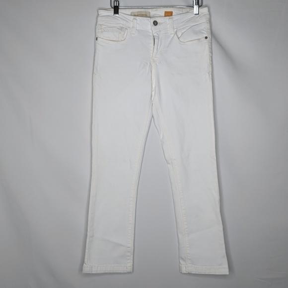 Pilcro and the Letterpress Denim - Anthro Pilcro and the Letterpress White Crop Jeans